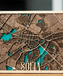 Artbg Stilizirana 3d Karta Na Sofiya Artbg